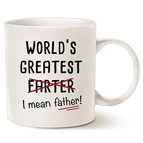 funny christmas gifts best dad coffee mug worlds greatest farter i mean father