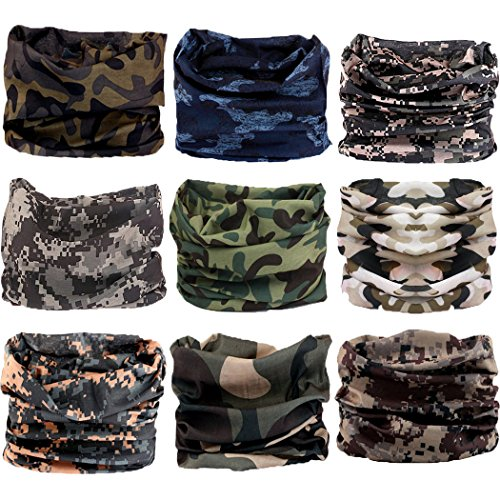 Sun Face Design - Headwear,Head Wrap, Neck Gaiter, Headband, Fishing Mask, Magic Scarf, Tube Mask, Face Bandana Mask, Neck Balaclava and Sport Scarf 12 in 1 Headband Sweatband for Fishing, Hiking, Running, Motorcycling