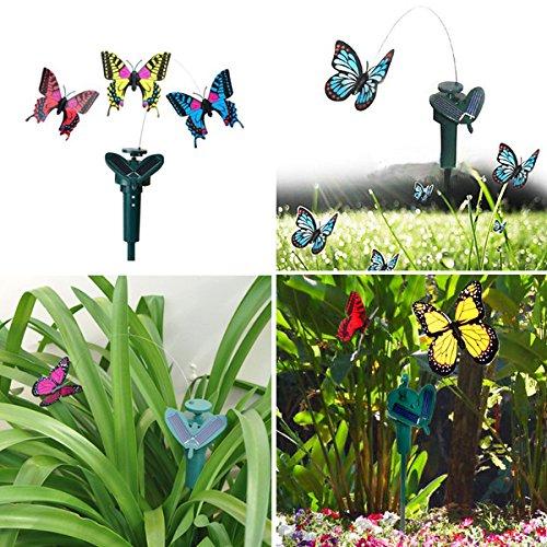 Beautiful DIY Creative Deformation Solar Power Butterfly Toy 2 Pcs (Porch Lighting Creative Ideas)
