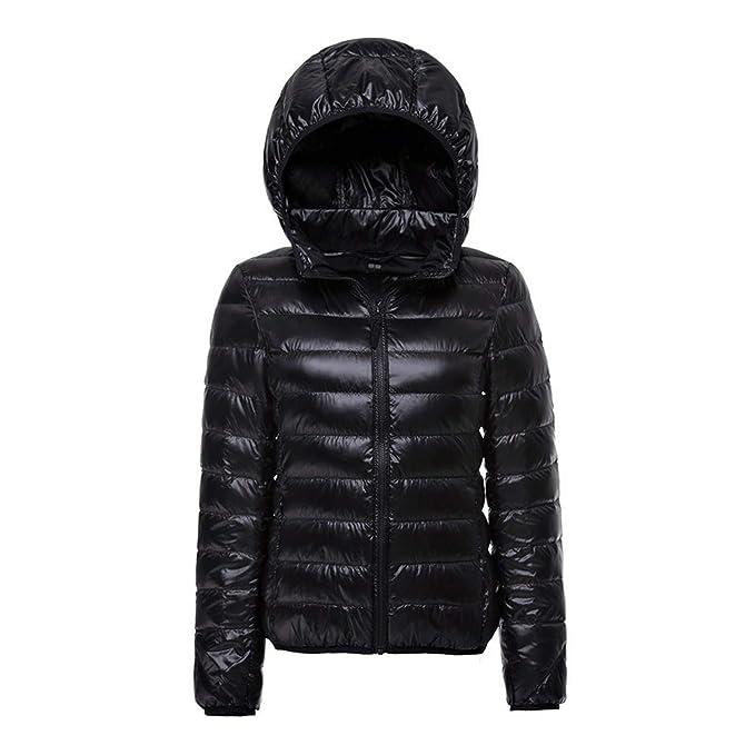 Amazon.com: Chaqueta de invierno para mujer, con capucha, 90 ...