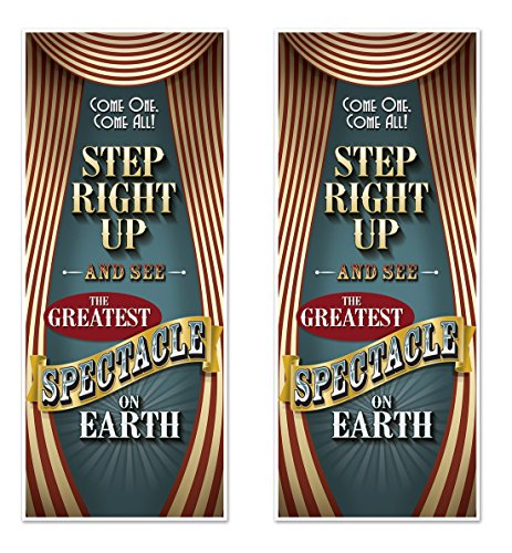Beistle 54981 Vintage Circus Door Covers 2 Piece, 30