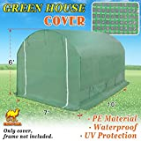 Strong Camel Replacement Cover for 10′ x 7′ x 6′ Larger Walk In Outdoor Plant Gardening Greenhouse Green Color (FRAME DOES NOT INCLUDED) For Sale