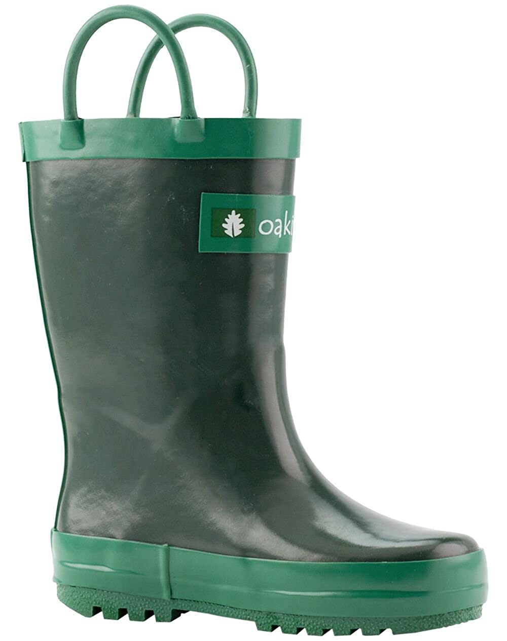 bd5912c41c5ac OAKI Kids Waterproof Rubber Rain Boots Easy-On Handles - sumifin.com