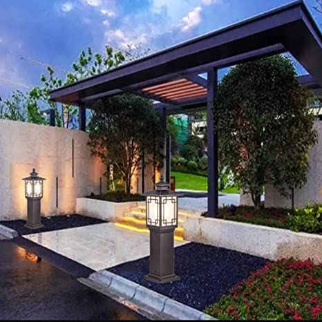 YAYADU Farolas Jardin Exterior Luz del Césped Impermeable IP33 ...