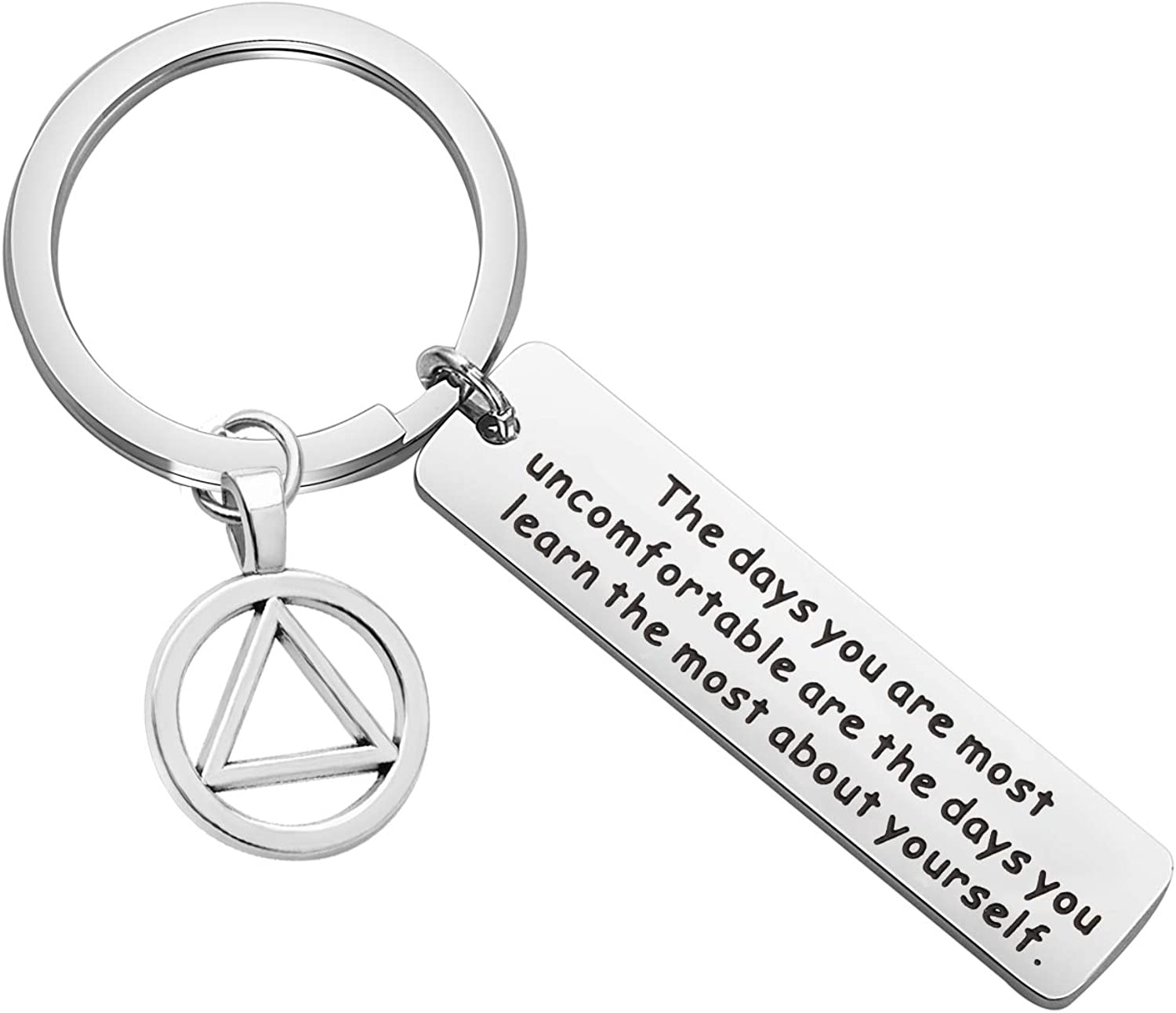 Sobriety Medallion Sobriety Coin AA Sober Anniversary Gift NA 12 Step Recovery Gift Personalized Sobriety Key Ring Sobriety Key Ring
