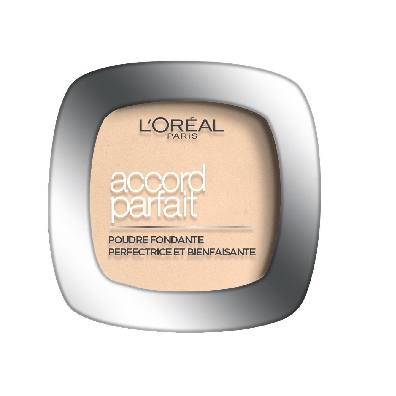 L'Oréal Paris Make Up Designer - Accord Parfait Poudre Fondante et Matifiante 10.D Doré Foncé L' ORÉAL PARIS