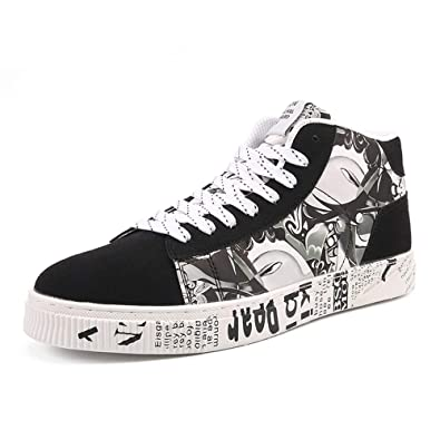 cb41b7567e2a2 Amazon.com   Men's Casual High Top Canvas Shoes Personalities ...