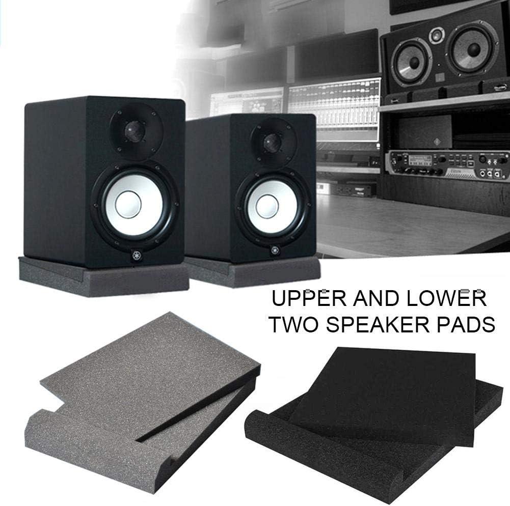 9PCS Studio Monitor Isolation Pads High Density Acoustic Foam