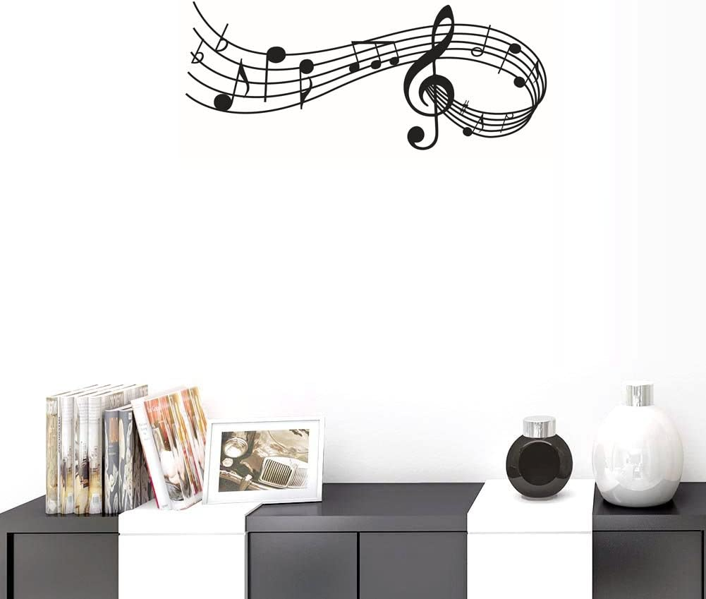 Amazon Com Bibitime Staff Wall Decals Musical Notes Music Vinyl Sticker For School Classroom Baby Nursery Bedroom Children Kids Room Early Education Home Art Pvc Decorations Home Kitchen