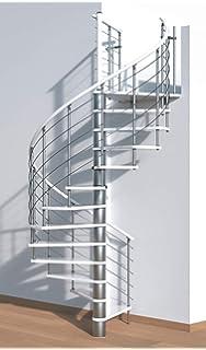 Spindeltreppe Selina silver//weiss DM 160 cm