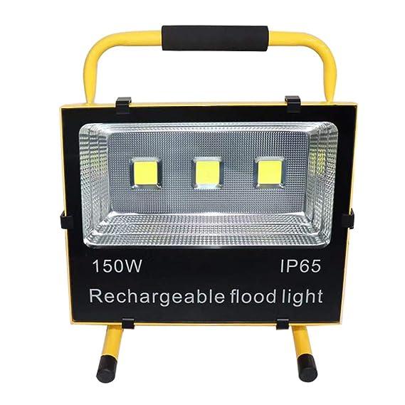 AUFUN Foco LED Exterior 100W Blanco C/álido Foco Proyector LED Impermeable IP65 Bater/ía Recargable Luz Trabajo L/ámpara para pesca Reflector Calzada Terraza Jardin