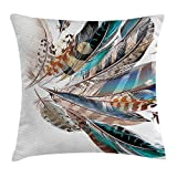 shower&home Feather House Decor Throw Pillow Cushion Cover Vaned...