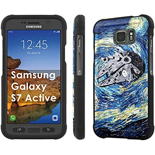 AT&T [Galaxy S7 Active][5.2 Screen] Phone Case [SlickCandy] [Black] Hard Protector Snap Designer Shell Case - [Starry Night Falcon] for Samsung Galaxy [S7 Sales