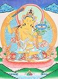 Manjushri -Tibetan Buddhist Deity - Tibetan Thangka Painting