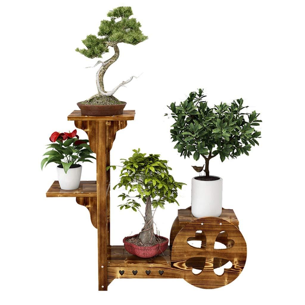 Home-FLW Vaso per Fiori in Legno Scaffale Ambientale Multistrato da Giardino Stand per Piante da Esterno