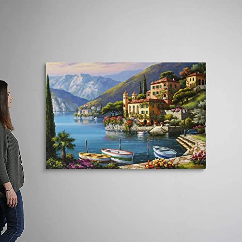 GREATBIGCANVAS Villa Bella Vista Canvas Wall Art Print