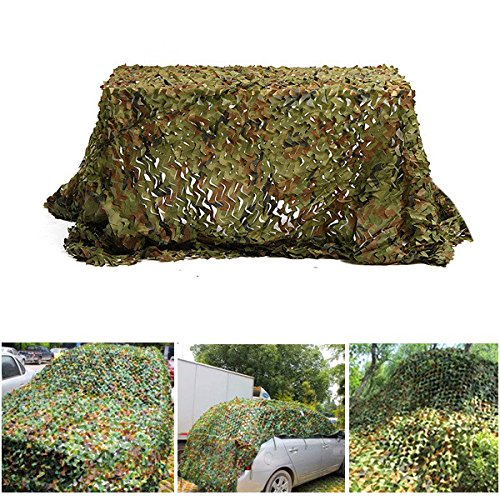 Disguise Earnings - 3mx3m Camouflage Net Car Cover Camping Military Hunting Shooting Hide - Profit Income Meshwork Final Lucre Reticulation Sack Take-Home - 1PCs by Unknown