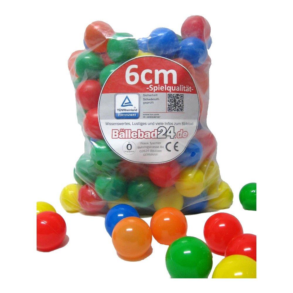 500 bunte Bälle, 5 Farben Babybälle Bällebad ohne gefährliche Weichmacher (TÜV Test Report vom November 2012) 500 bunte Bälle 500/6