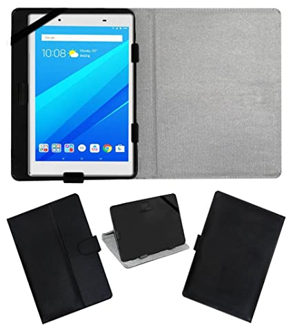 official photos 321c9 1eba8 Amazon.in: Buy Acm Leather Flip Flap Case for Lenovo Tab 4 8 Plus ...