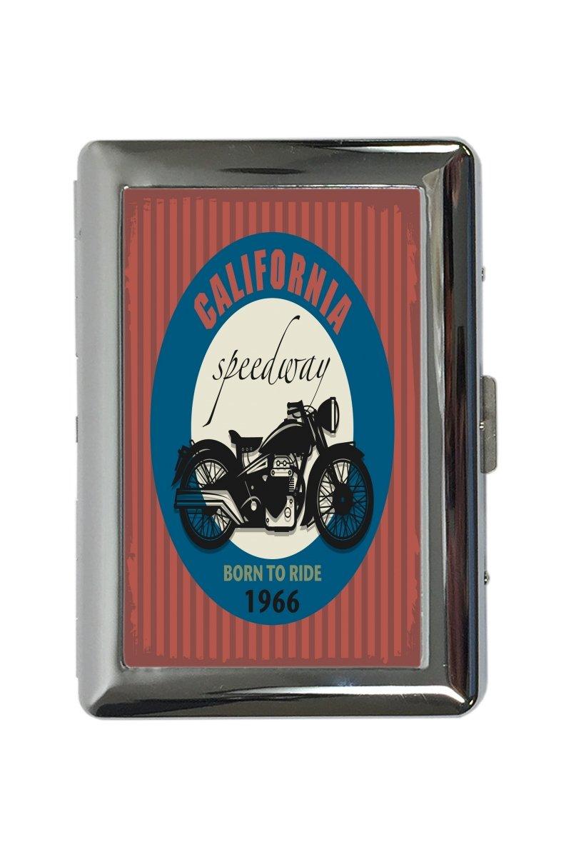 pitillera cigarrera Retro Motorista California Speedway impreso 300EQ25320770