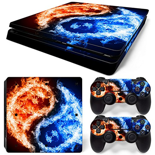 CSBC Skins Sony PS4 Slim Design Foils Faceplate Set - Yin Yang Design ()