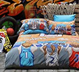 YOYOMALL Original Street Basketball Bedding Set,Bedding Sets for Teen Boys Twin Queen King Size. (Queen)