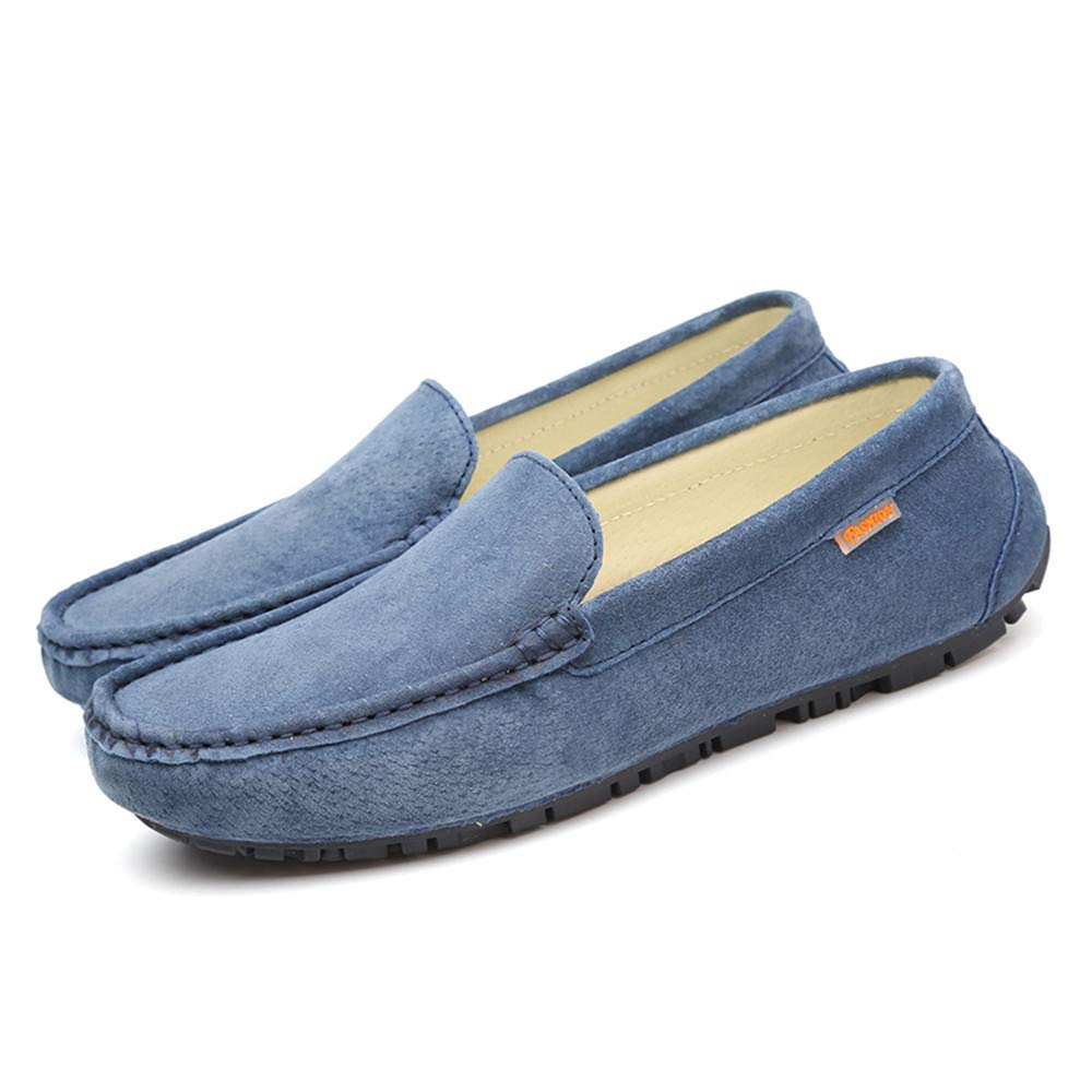 Jiuyue-shoes Ropa para Hombres con Suelas de Cuero Suave Mocasines para Barcos Mocasines con Ruedas (Color : Azul, tamaño : 40 EU): Amazon.es: Hogar