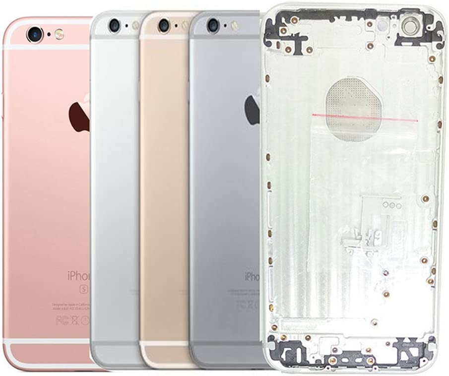 """Battery Housing Door for iPhone 6s Plus 5.5"""" with Logo Hybrid Metal Back Cover Replacements with Free Tools,Gold"""
