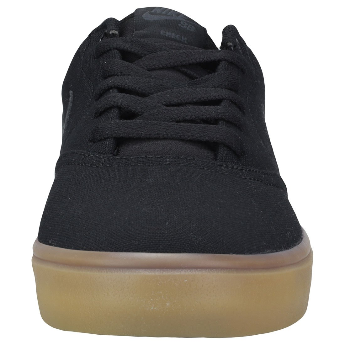 Nike Men's SB Check Solarsoft Canvas Skateboarding Shoes Black/Black-Gum Light Brown 10 by Nike (Image #3)