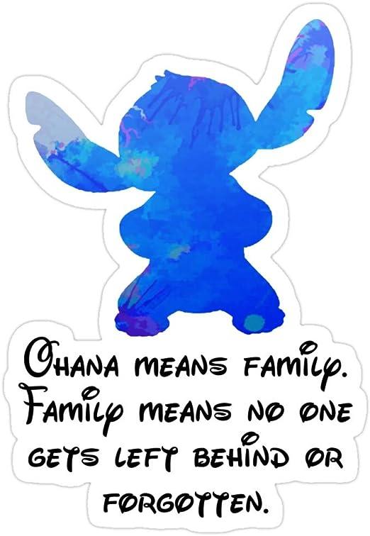 STITCH FUN QUOTE  OHANA FAMILY DECAL 9 X 12 VINYL GRAPHIC STICKER