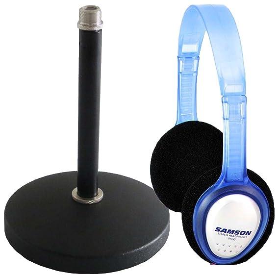 Trípode de mesa soporte para micrófono (trípode de mesa + Samson ...