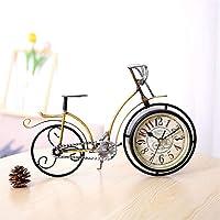EUNADINAWENHUA Estilo Europeo Retro Bicicleta Mesa Reloj Adorno