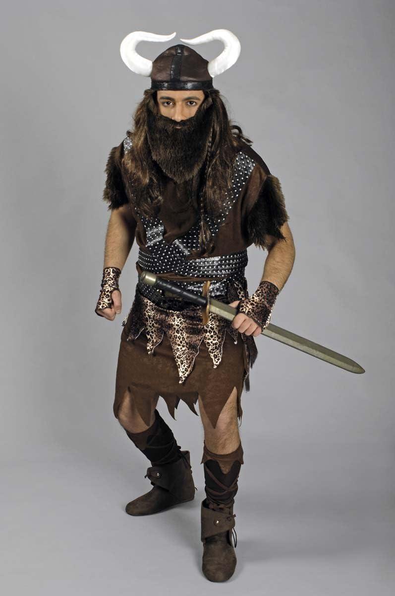 Disfraz guerrero vikingo hombre S: Amazon.es: Juguetes y juegos