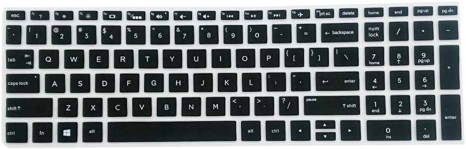 non-brand Cubierta de Piel de Teclado de Escritorio Funda Protectora de Silicona para HP 15.6 Pulgadas - Negro