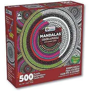 Karmin International Creative Color A Puzzle Adult Coloring Meditation Circles Mandala 500