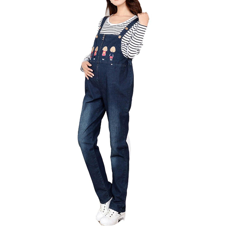 YiZhi Hot Maternity Jumpsuit Loose Rompers Baggy Pants Pregnancy Bib Jeans M8817