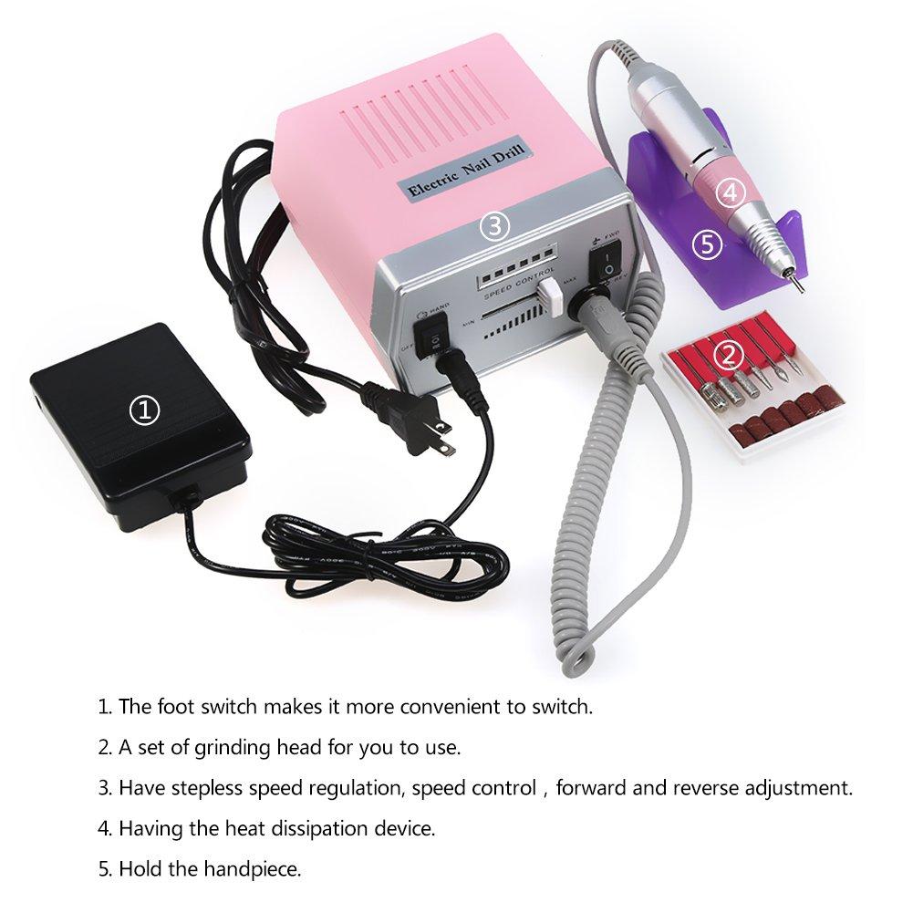 Pulidora De Uñas Electrico Manicura Pedicura Rectificado Máquina de ...