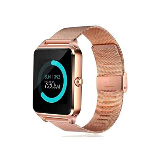 SanQing Smart Watch Bluetooth Steel Belt Pantalla táctil con cámara, Reloj, Ranura para Tarjeta SIM, Monitor de Estado físico, Teléfono Inteligente ...