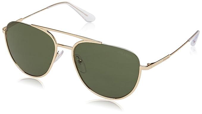 c2c6b9bf8a4c PRADA Men s 0PR50US 5AK1I0 56 Sunglasses Gold Green  Amazon.co.uk ...