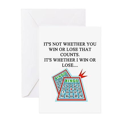 Amazon Cafepress Funny Bingo Joke Greeting Card Note Card