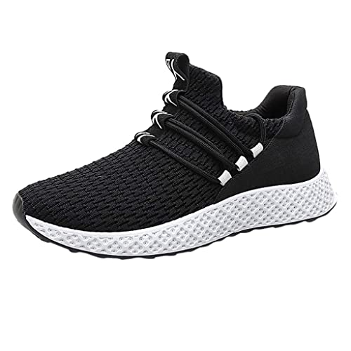 2a50fcb8cf0c2 Men's Sneakers Flying Weaving Casual Breathable Shoe Student Running ...