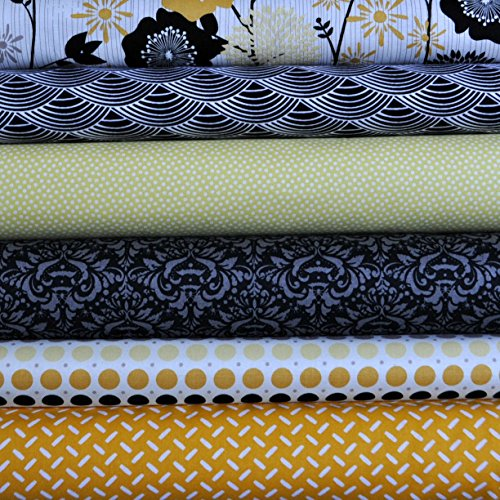 (Andrea Victoria 6 Fabric Fat Quarters Bundle by Mixed Designers, 1 1/2 yards total)