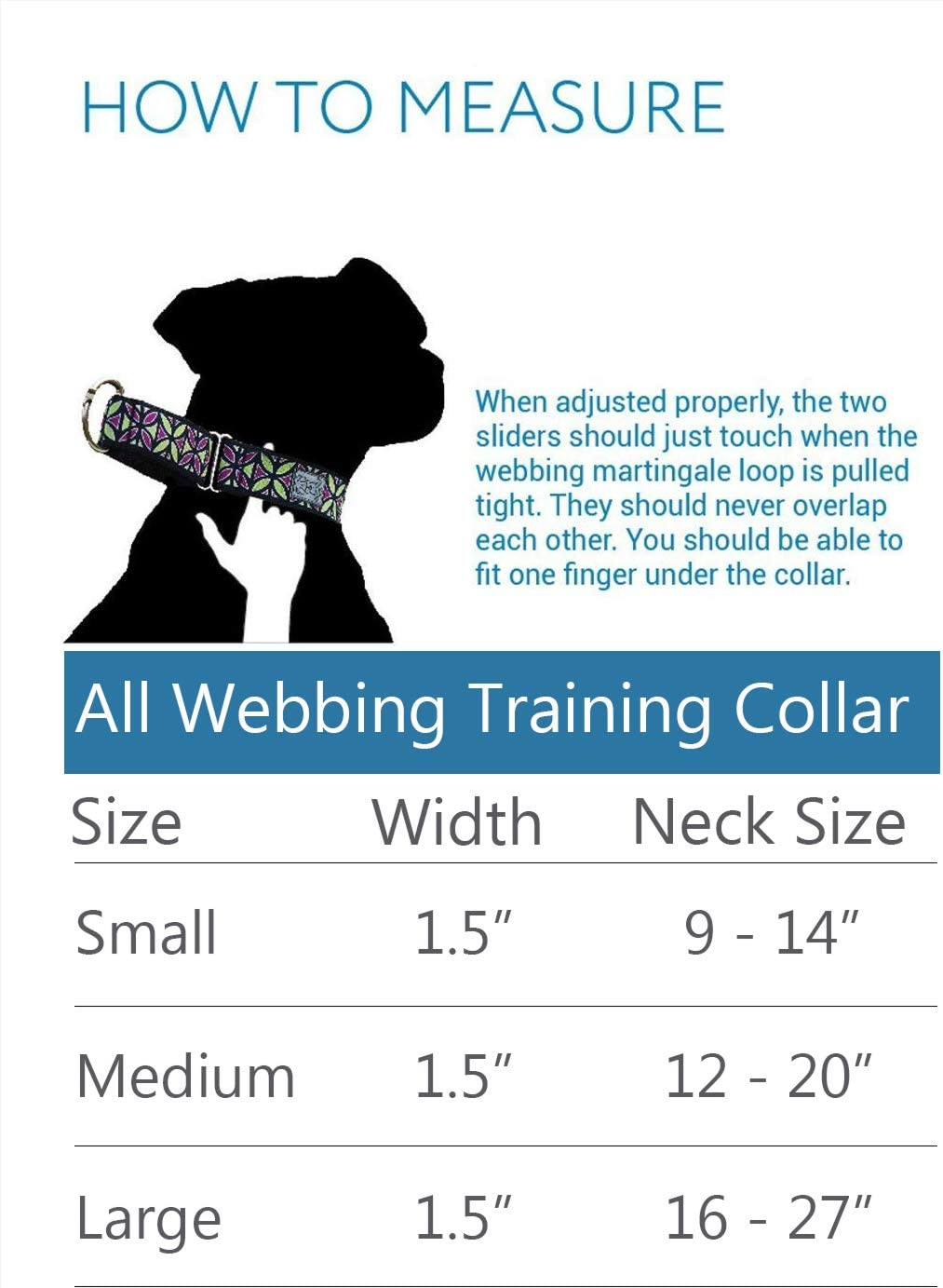 RC Pets 1-1 2 Inch All Webbing Martingale Training Dog Collar, Medium, Watermelon