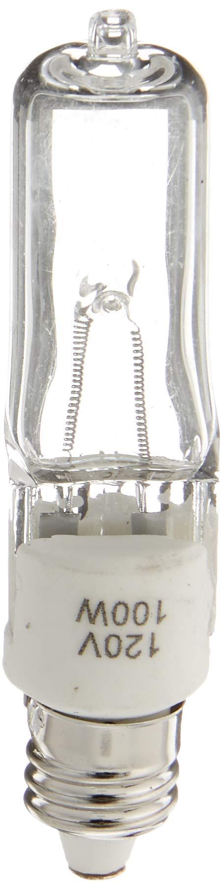 eTopLighting (10) Bulbs, 120V 100W Halogen Replacement Bulb, E11 Base, 120V 100W, Mini Candelabra