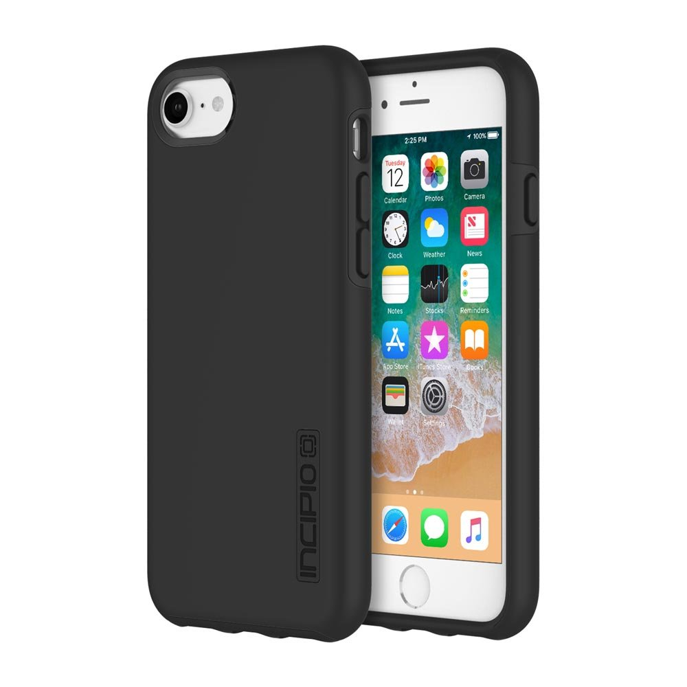 Incipio DualPro iPhone 8 & iPhone 7/6/6s Case with Shock-Absorbing Inner Core & Protective Outer Shell for iPhone 8 & iPhone 7/6/6s - Black/Black