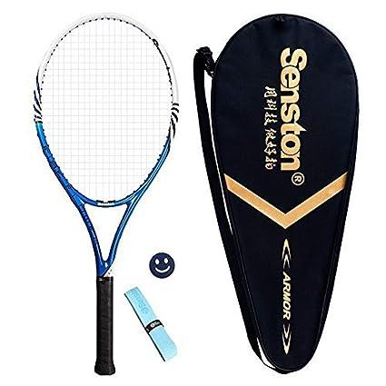 Senston Raqueta de Tenis Unisex jóvenes/Adulto, diseño de una Pieza Pádel de Tenis, Grip 4 1/4 Inch, 27