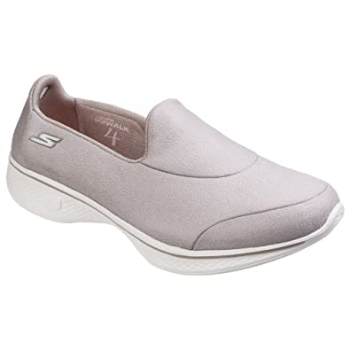 6ce24a4536a Skechers Womens Ladies SK14166 Go Walk 4 Inspire Slip On Shoes  Amazon.co.uk   Shoes   Bags