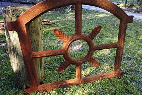 Eisenfenster Stallfenster f/ür Gartenmauer antik Sprossenfenster Fenster Eiche kl Antikas