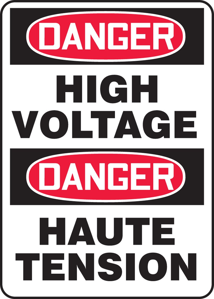 DANGER HIGH VOLTAGE (BILINGUAL FRENCH)