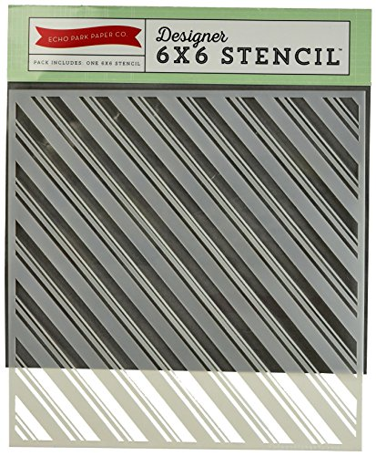 - Echo Park Paper Company The Story of Christmas Candy Cane Stripes Stencil